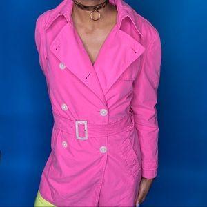 Vintage Hot Pink Trench Coat